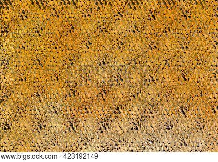 Orange Seamless Pattern. Bright Abstract Background With Orange Glitter Sparkles Illustration. Shiny