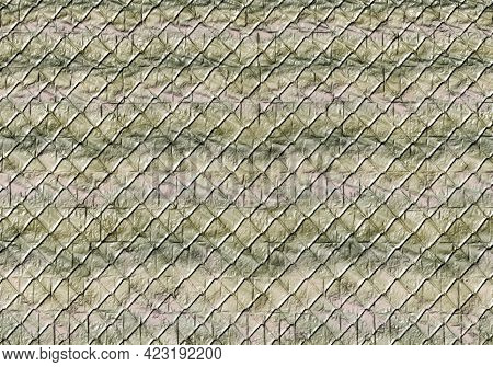 Seamless Pattern With Braid Wire Fence Texture. Chain Link Fence. Abstract Glat Endless Simple Geome