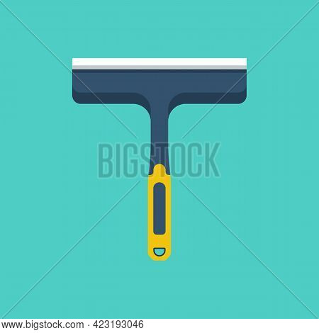 Equipment For Washing Windows. Water Cleaning From The Window. Vector Illustration Flat Design. Isol