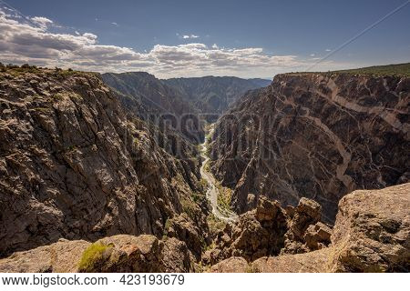 The Painted Wall And Gunnison River In Black Canyon Of The Gunnison National Park