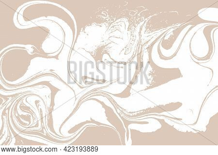 Beige Light Artwork Marble Texture. Vector Illustration.