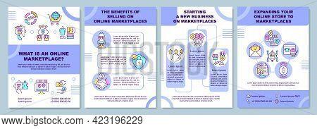 What Is An Online Marketplace Brochure Template. E Business. Flyer, Booklet, Leaflet Print, Cover De