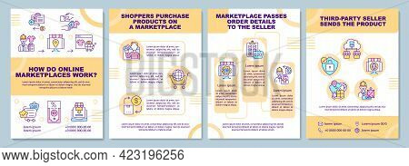 How Do Online Marketplaces Work Brochure Template. Online Business. Flyer, Booklet, Leaflet Print, C