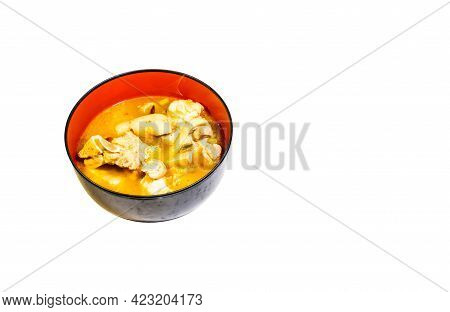 Tom Yum Pork Leg. Spicy Food Is Popular With Thai People. Clipping Path.
