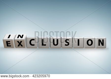Concept of inclusion and exclusion - 3d rendering