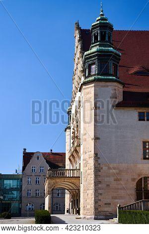 Historic, Stone Neo-romanesque Buildings In Poznan, Poland