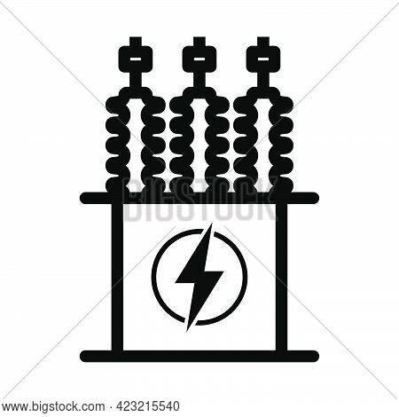 Electric Transformer Icon. Bold Outline Design With Editable Stroke Width. Vector Illustration.