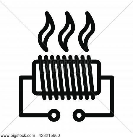 Electrical Heater Icon. Bold Outline Design With Editable Stroke Width. Vector Illustration.