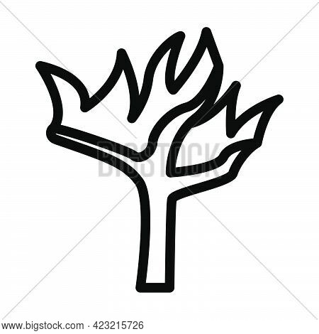 Wildfire Icon. Bold Outline Design With Editable Stroke Width. Vector Illustration.