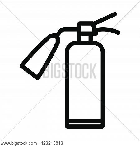 Fire Extinguisher Icon. Bold Outline Design With Editable Stroke Width. Vector Illustration.