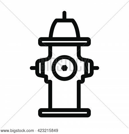 Fire Hydrant Icon. Bold Outline Design With Editable Stroke Width. Vector Illustration.