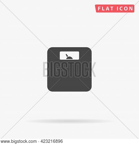 Bathroom Weight Scale Flat Vector Icon. Hand Drawn Style Design Illustrations.