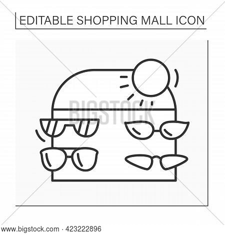 Accessories Line Icon. Stylish, Luxury Eyewear And Sunglasses. Modern, Fashion And Trendy Summer Acc