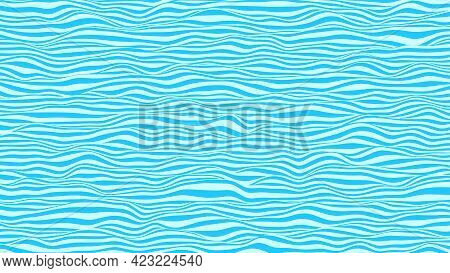 Abstract Waves Background. Striped Surface With Wavy Distortion Effect, Vector Illustration.