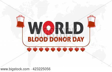 World Blood Donor Day Medical Prevention And Awareness Vector Vector Background, Banner, Poster, Car