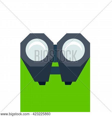 Birdwatching Icon Binoculars Icon Isolated O White