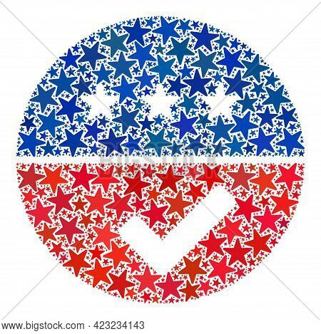 Accept American Collage Of Stars In Various Sizes And Color Shades. Accept American Illustration Use