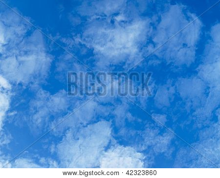 Light, Transparent Cumulus Clouds - Zenith Of Sky