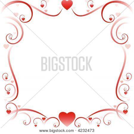 Swirly Borders Valentine