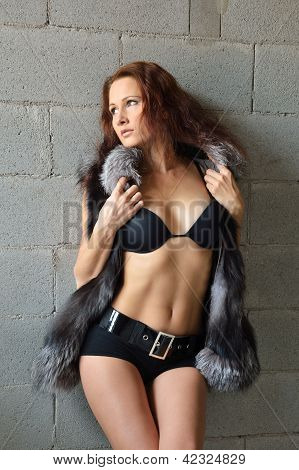 Nude Woman In The Fur Vest