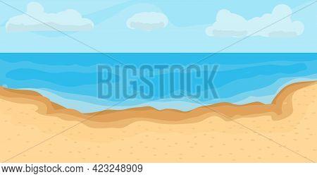 Seashore Abstract Poster. Beach Vector Illustration. Summer Holiday Background.