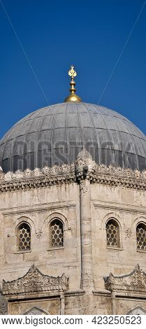 Ottoman Style Architecture, Mosques And Minarets Details, Istanbul Turkey