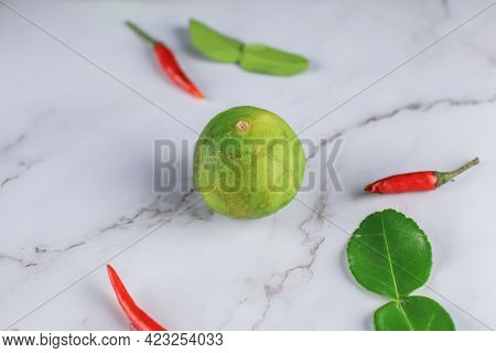 Ingredients For Thai Spicy Soup \\\'tom Yum\\\' Dish Chili Hot Spicy Soup Thai Popular Famous Food I