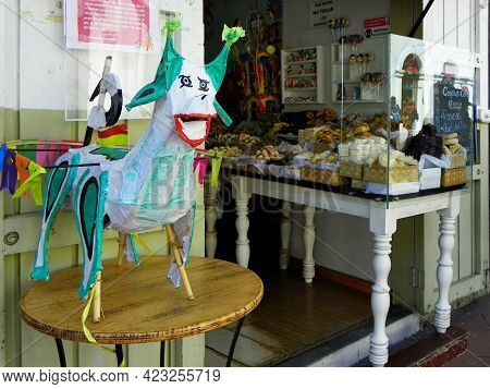 Cuenca. Ecuador - June 9, 2021: Traditional Sweets At Corpus Christi Celebration And One Of The Its