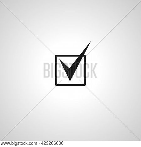 Check Mark In Box Isolated Vector Icon. Check Mark In Box Isolated Vector Icon. Check Mark In Box Is