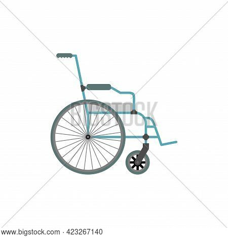 Disabled Carriage Isolated Sign. Vehicle For Disabled Person. Vector Illustration