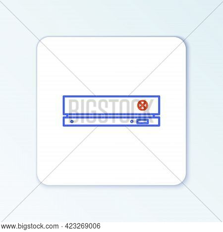 Line Video Game Console Icon Isolated On White Background. Colorful Outline Concept. Vector