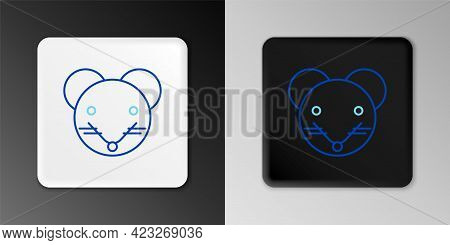 Line Rat Zodiac Sign Icon Isolated On Grey Background. Astrological Horoscope Collection. Colorful O