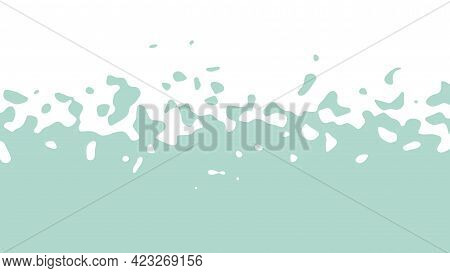 The Transition From Green To White With Uneven Border Line, Interpenetration Of Colors. Vector Illus