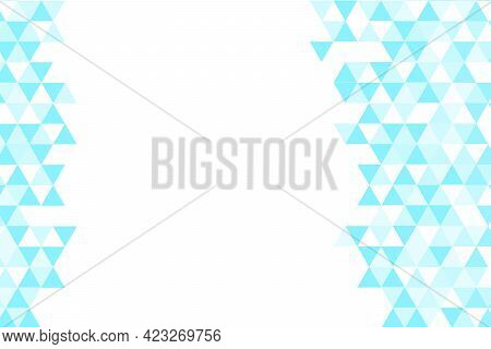 Polygonal Blue Mosaic Background. Abstract Low Poly Vector Illustration. Triangular Pattern, Copy Sp