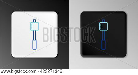 Line Marshmallow On Stick Icon Isolated On Grey Background. Colorful Outline Concept. Vector