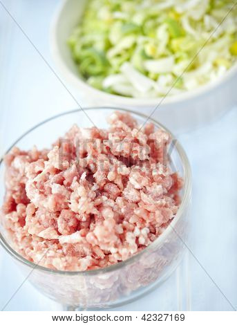 Ground Meat And Leeks