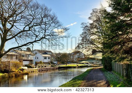 View of Lancaster Canal at Bolton-Le-Sands
