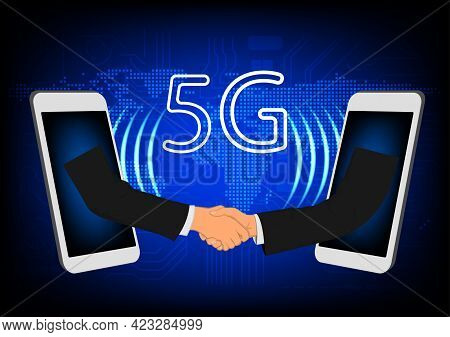 Image Graphics Technology 5g Network World Global Network By Smartphone Concept Networking Connectio