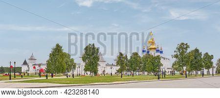 Tobolsk, Russia - August 16, 2020. The Tobolsk Kremlin Is White-stone Kremlin In Siberia. Founded In