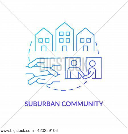 Suburban Community Concept Icon. Communities Types Abstract Idea Thin Line Illustration. Urban And R