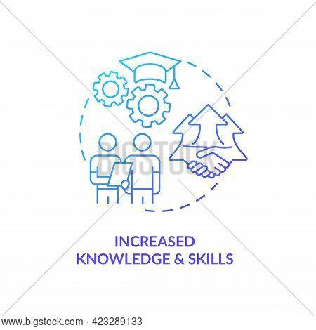 Increased Knowledge And Skills Concept Icon. Community Development Abstract Idea Thin Line Illustrat