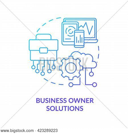 Business Owner Solutions Concept Icon. Community Development Project Abstract Idea Thin Line Illustr
