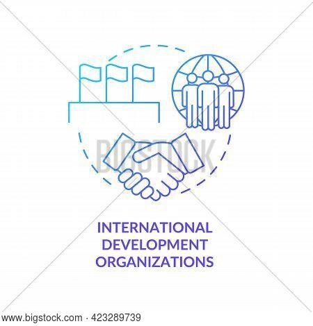 International Development Organizations Concept Icon. Society Growth Abstract Idea Thin Line Illustr