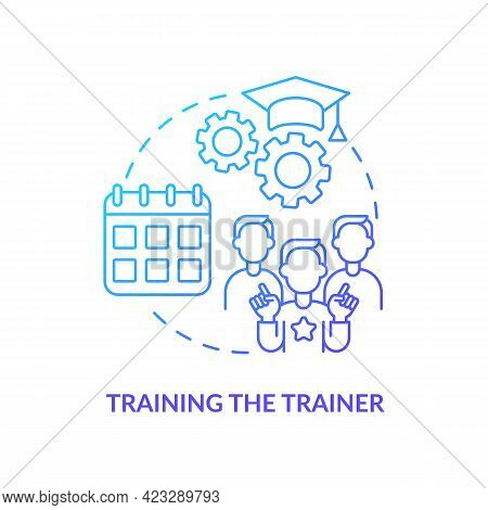 Training Trainer Concept Icon. Society Progress Abstract Idea Thin Line Illustration. Gaining Skills