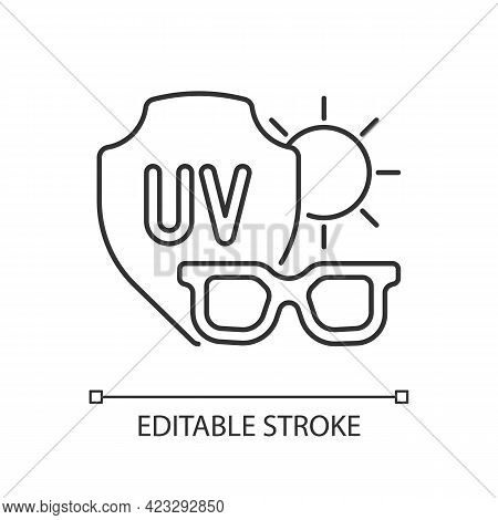 Sunglasses Linear Icon. Glasses For Eye Protection From Uv Rays. Preventing Sun Exposure. Thin Line
