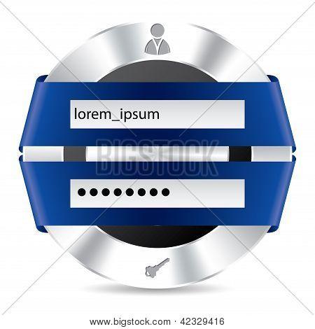 Metallic Access Login Screen