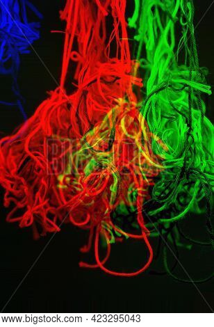 Bright Abstract Background With Dispersion Effect From Tangled Threads