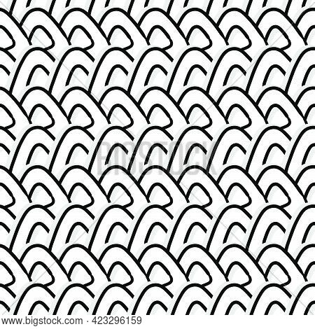 Triangle White Line Art Seamless Pattern Textile Print. Great For Summer Vintage Fabric, Scrapbookin