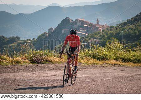 Speloncato, Corsica, France - 9th June 2021: Clément Clisson Leads The 2021 Bikingman Corsica Race A