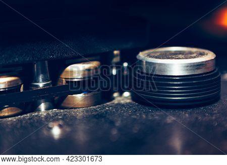 Details Of Vintage Tape Magnetophon For Broadcasting . Professional Magnetic Tape For Vintage Record